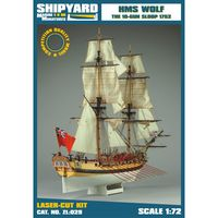 HMS WOLF The 10-Gun Sloop 1752 skala 1:72