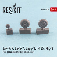 Jak-7/9, La-5/7, Lagg-3, I-185, Mig-3  for ground airfields wheels set - Image 1