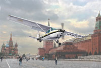 CESSNA 172 SKYHAWK - Landing on Red Square (1987)