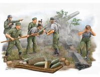 German Field Howitzer Gun Crew (on firing)