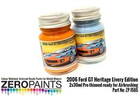 1565 2006 Ford GT Heritage Livery Edition Blue and Orange Set