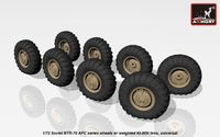 BTR-70 APC wheels w/ weighted tires KI-80N