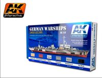 AK 559 Acrylic Colors For German Warships Set