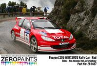 1487 Peugeot 206 WRC 2003 Rally Red