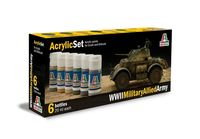 Military Allied Army (1939-1945) Acrylic Set