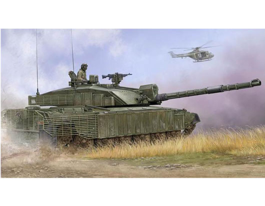 British Main Battle Tank Challenger 2 with Anti-Heat Fence - Image 1