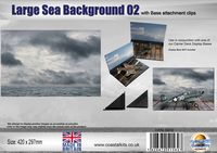 Large Sea Background 02 with attachment clips 420 x 297mm