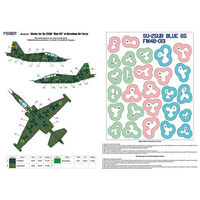 Masks for clover camouflage of Su-25UB Blue 65, Ukrainian Air Forces - Image 1