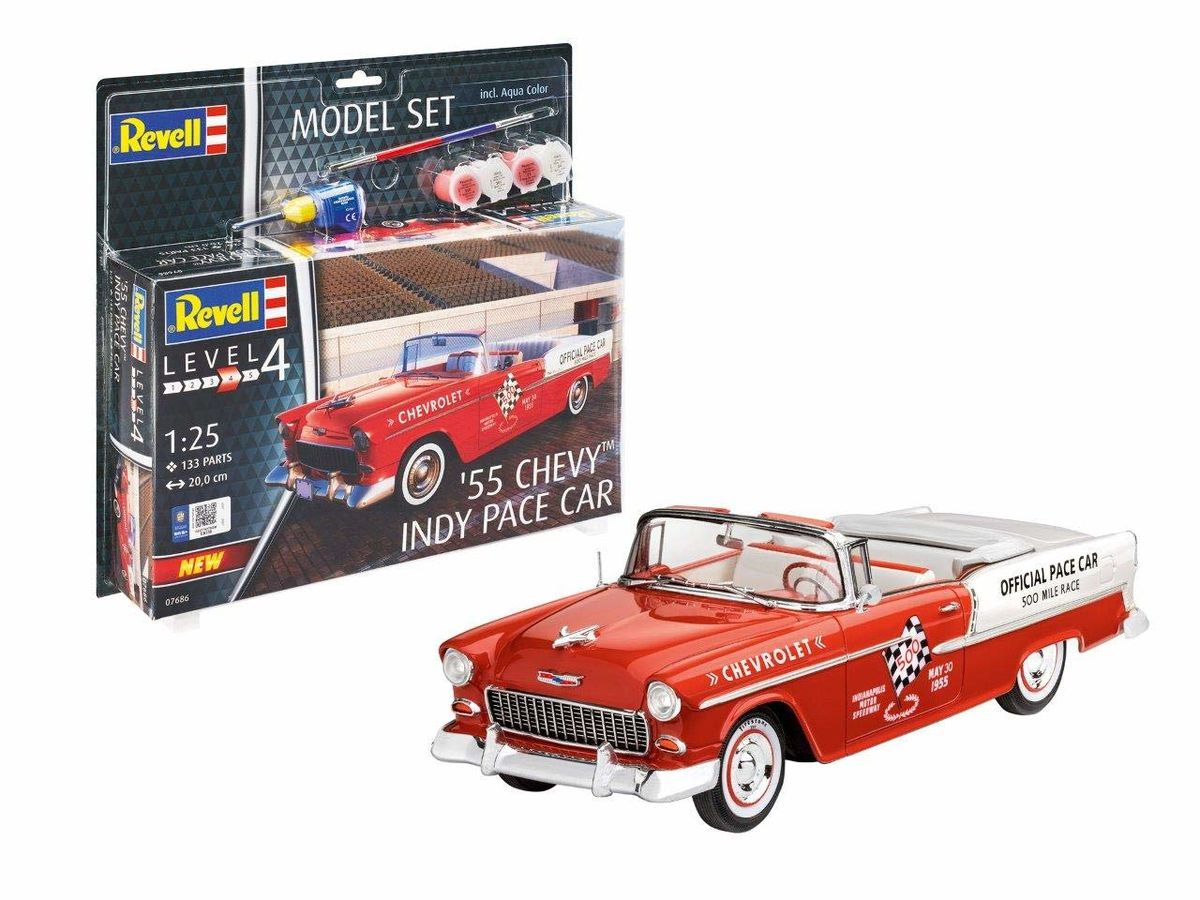 55 Chevy Indy Pace Car Model Set - Image 1