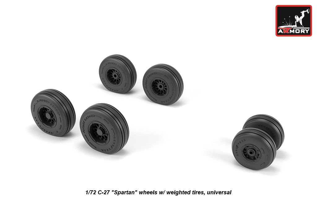 "C-27 ""Spartan"" wheels w/ weighted tires - Image 1"