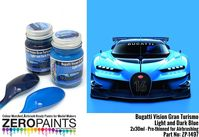 1497 Bugatti Vision Gran Turismo - Light and Dark Blue Set