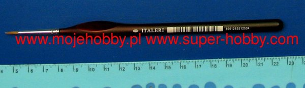 Italeri brush, sable hair, round, 0 (ergonomic handle) - Image 1
