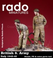 British 8. Army Italy 1943-45 Decals, PE & extra parts included