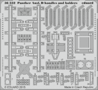 Panther Ausf. D handles and holders Tamiya 35345 - Image 1