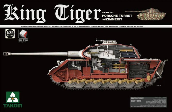 Sd.Kfz.182 King Tiger Porsche Turret with Zimmerit with New Track Parts - Image 1