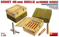Soviet 45-mm Shells with ammo boxes - Image 1