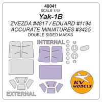 Yak-1B - (ZVEZDA/ EDUARD/ Accurate Miniatures) - (double sided) + wheels masks - Image 1