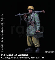 The Lions of Cassino / MG 42 gunner, 1. FJ Division, Italy 1943-45