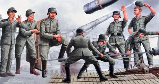 8 Figure Crew For Leopold Rail Gun - Image 1