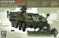 American Stryker M1132 Engineer Squad Vehicle with Surface Mine Plow