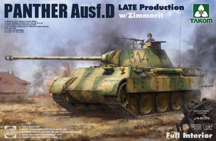Panther Ausf. D Late Production w/ Zimmerit Full Interior Kit - Image 1