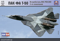 PAK FA T-50 Russian Aerospace Forces 5th-generation fighter (without resin parts)