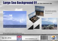 Large Sea Background 01  with attachment clips 420 x 297mm