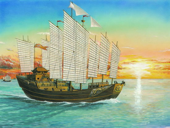 60cm Chinese Cheng-Ho Sailing Ship - Image 1