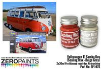 1475 Volkswagen T1 Samba Bus (Sealing Wax - Beige Grey) Set