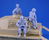 WWII German Tank Crew and Riders set 3 Figures - Image 1