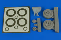 A-1H Skyraider wheels & paint masks Plastic Bag (TAMIYA) - Image 1